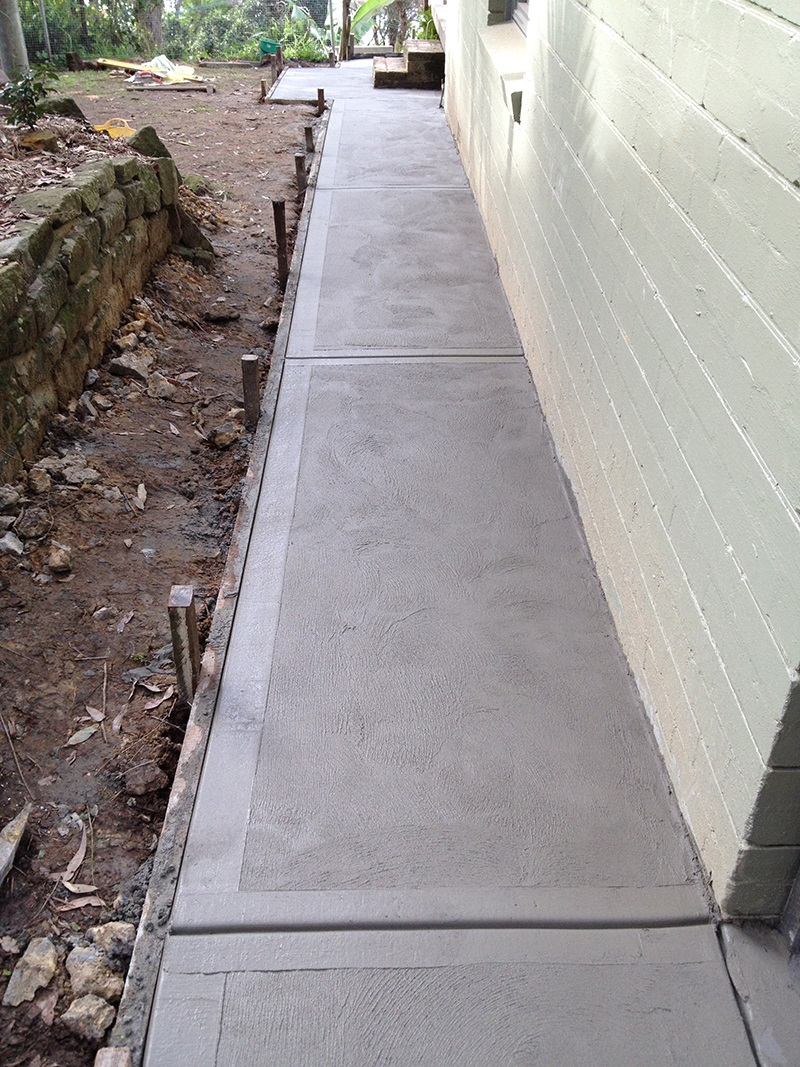 Clareville Pathway Plain Concrete Trowel finish