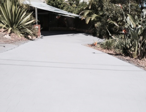 Clareville – Driveway – Resurface from Old Stencil